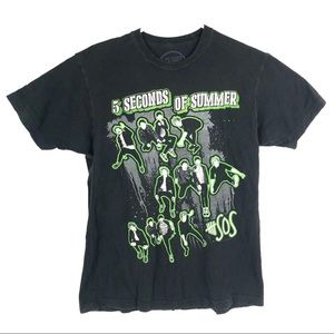 5 Seconds of Summer Five SOS Mens Shirt Size M Tee
